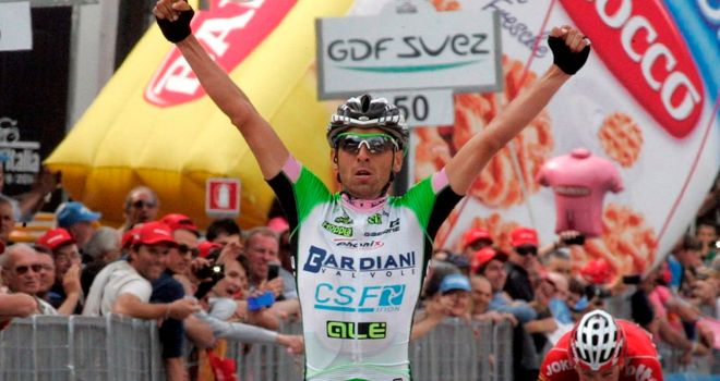 Stefano Pirazzi secured the first Giro stage win of his career