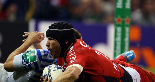 Matt Giteau: Slides in for Toulon's first try