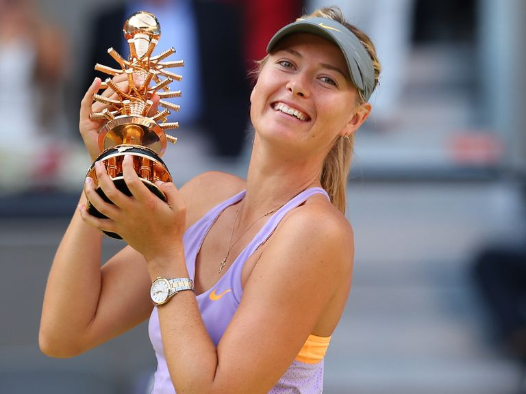 Sharapova with her trophy