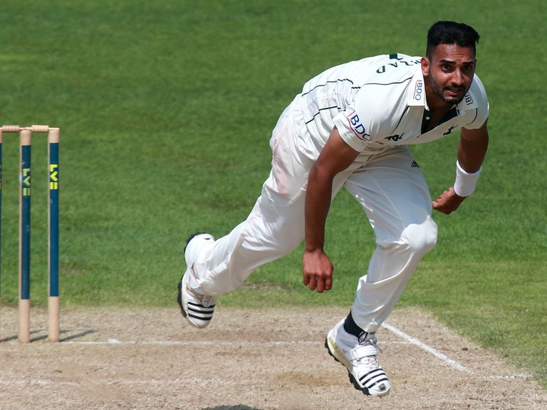 Ajmal Shahzad: Four wickets for Nottinghamshire