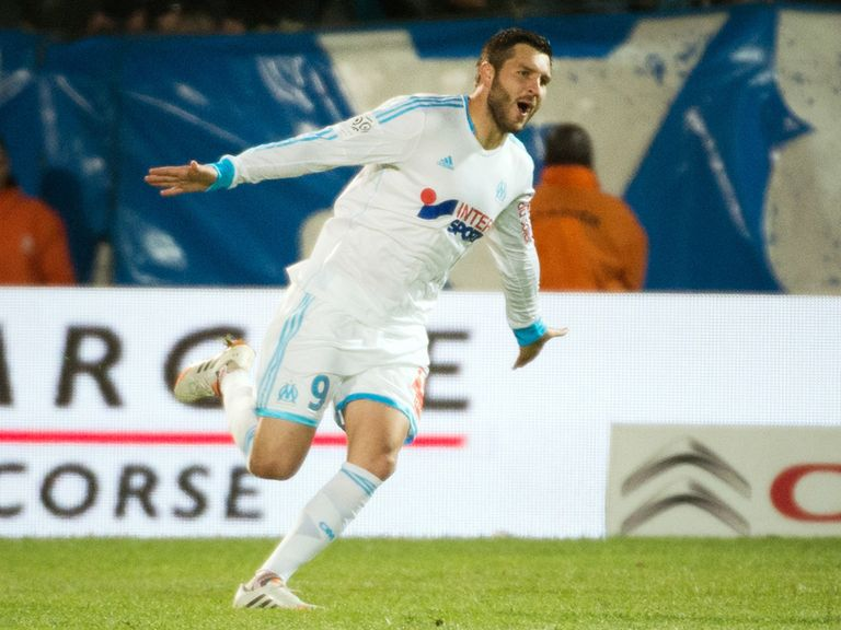 Andre-Pierre Gignac.was on target twice for Marseille