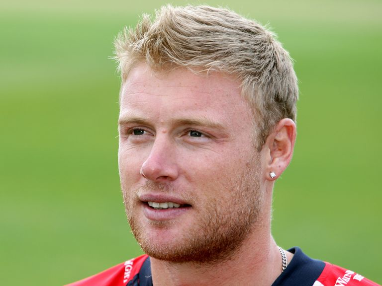 Andrew Flintoff: With Lancashire's first team at Headingley