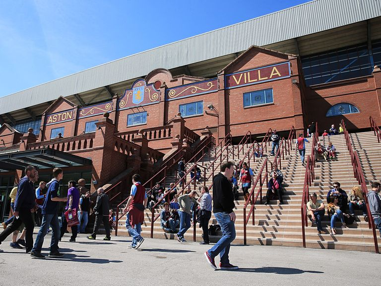 Tom Fox has arrived at Villa Park