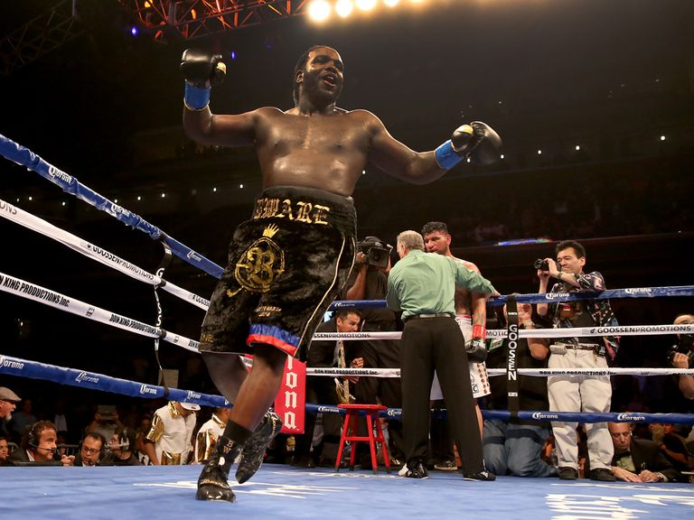 Bermane Stiverne celebrates becoming a world champion