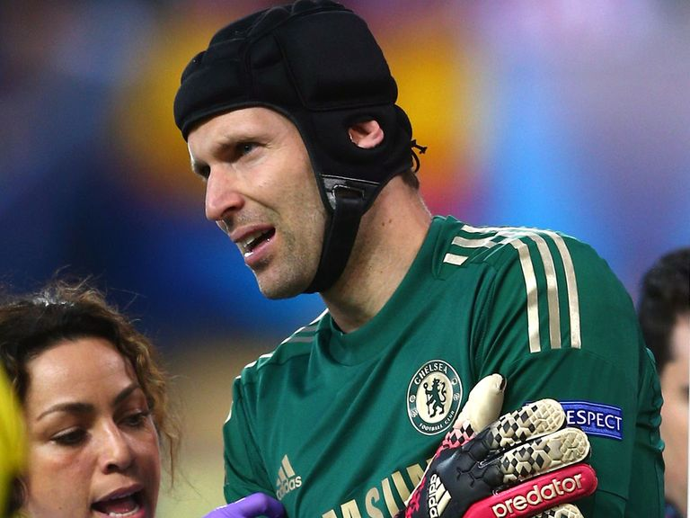 Petr Cech: Suffered a dislocated shoulder