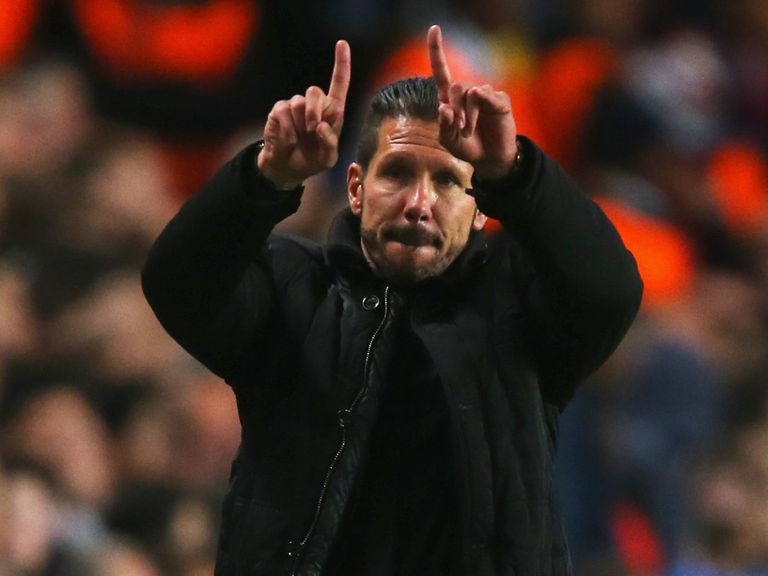 Diego Simeone: Thrilled with his players' efforts against Chelsea