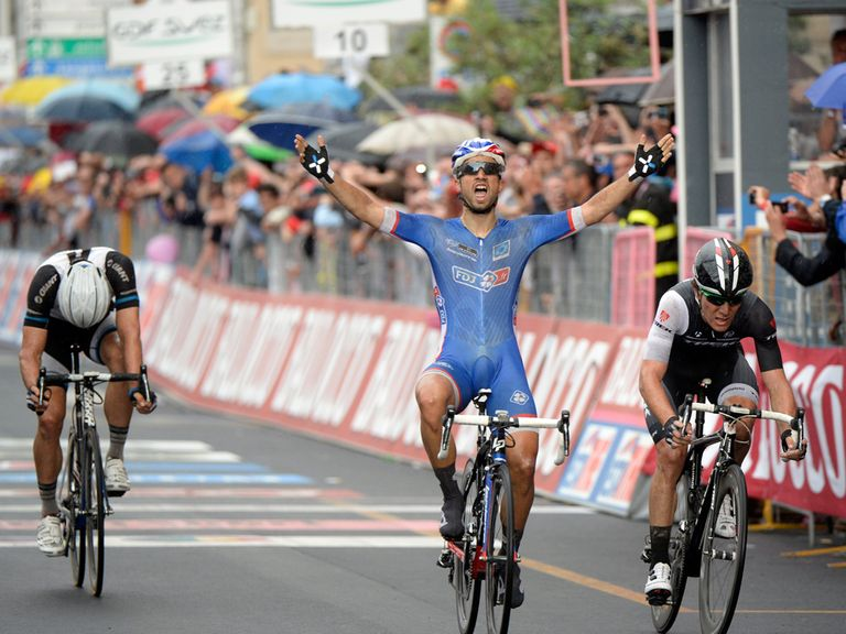 Nacer Bouhanni: Claimed victory in Bari
