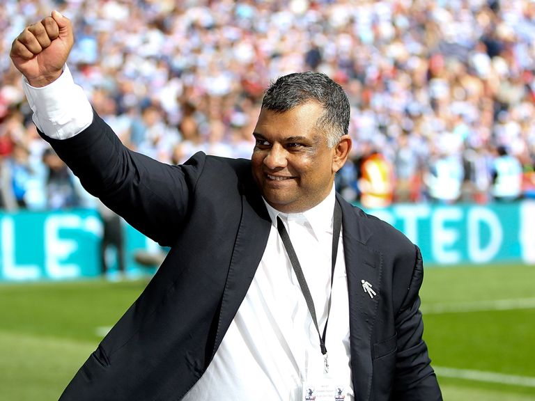 QPR co-owner Tony Fernandes celebrates after the play-off final