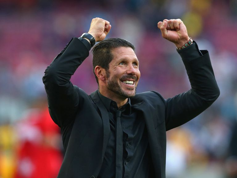 Atletico Madrid coach Diego Simeone celebrates