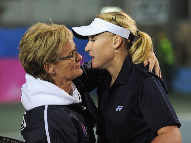 Judy Murray (l) and Elena Baltacha, pictured in 2012