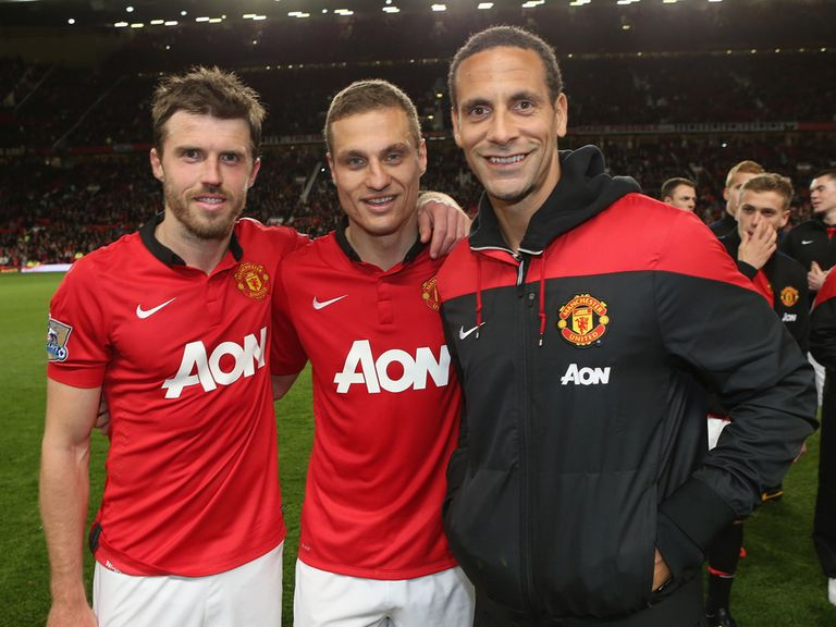 Michael Carrick, Nemanja Vidic and Rio Ferdinand: Have played their last game together