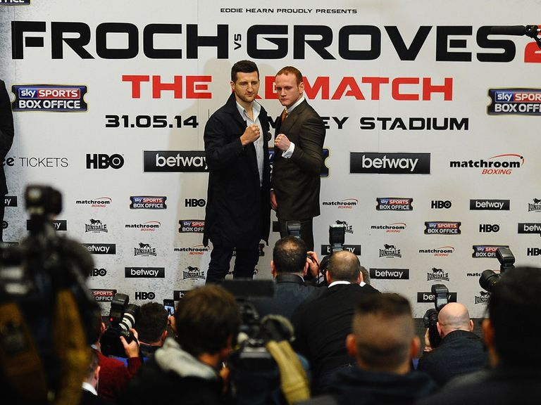 Froch (l) and Groves do battle at Wembley this weekend