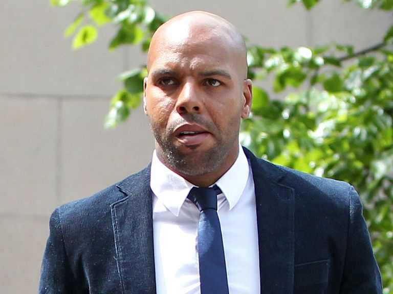 Marlon King arrives at Nottingham Crown Court on Thursday