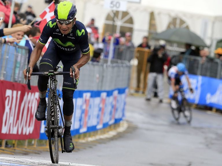 Nairo Quintana crossed the line 4min 11sec ahead of Rigoberto Uran