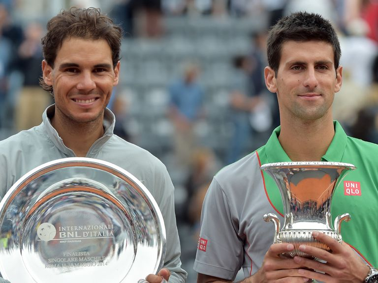 Novak Djokovic (r) can edge out Rafael Nadal again in Paris, says Durie