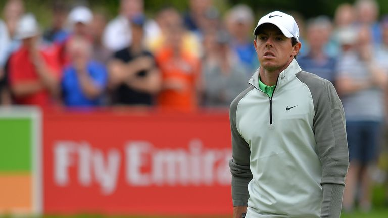 Rory McIlroy: Ten shots adrift of leader leader Mikko Ilonen