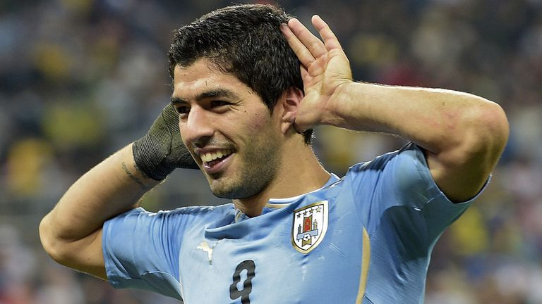 Suarez scored the equalising goal in the second half in Recife