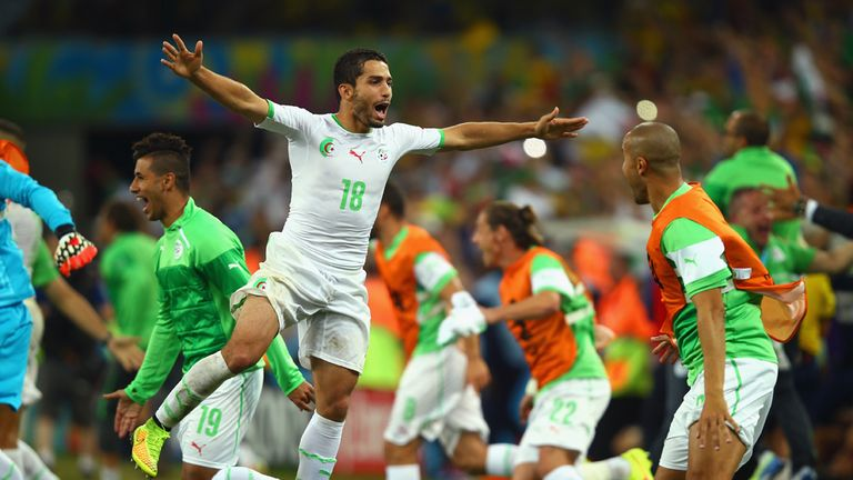 Algeria: Joy at the final whistle as they reached the last-16 for the first time