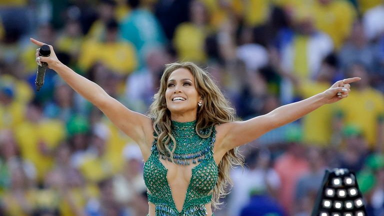 Pop star Jennifer Lopez belted out some tunes at the World Cup's opening ceremony
