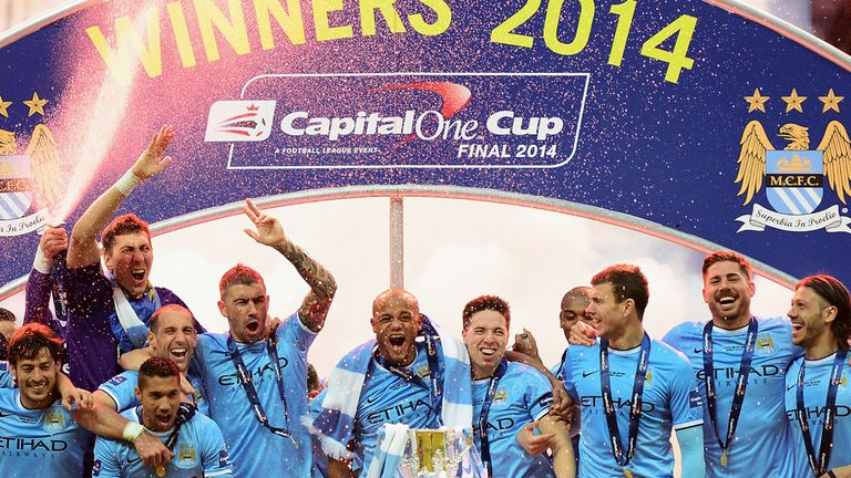 Manchester City: Premier League champions also won the League Cup last season