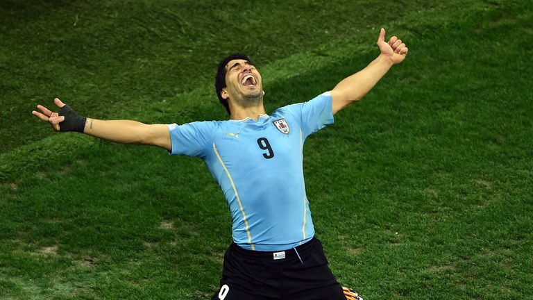 Luis Suarez' Uruguay are also two-time winners, in 1930 and 1950