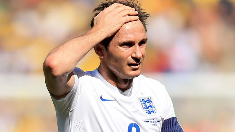 Frank Lampard: Veteran midfielder captained England in 0-0 draw with Costa Rica
