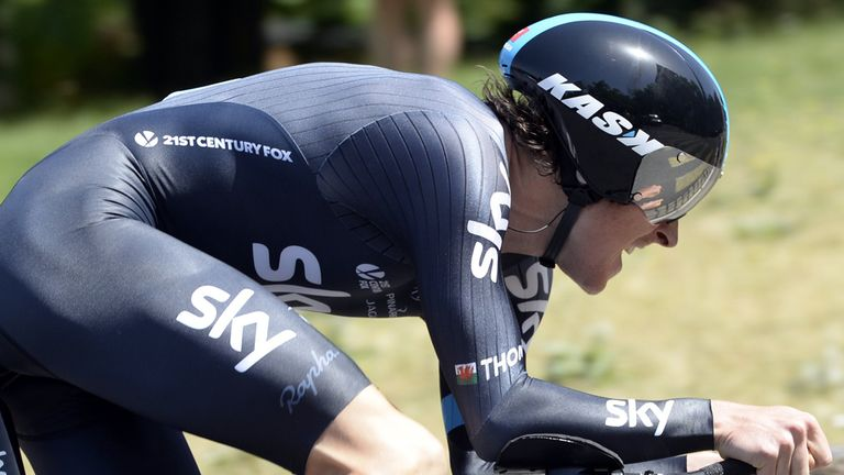 Team Sky's Geraint Thomas - going to Glasgow with medal hopes