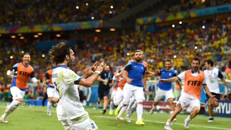 Samaras: Celebrates penalty winner