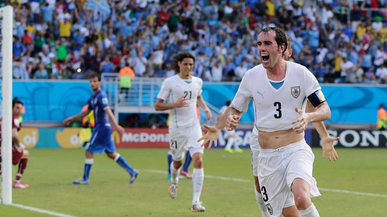 Goal joy: Godin's header proved the difference