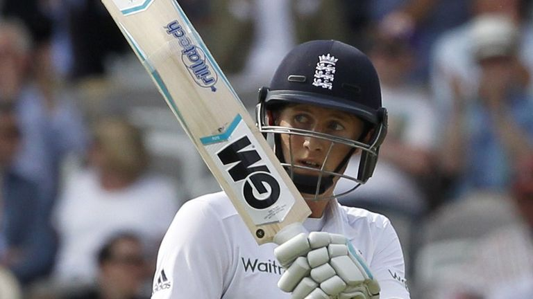 Joe Root: Made his third century as England dug their way out of trouble