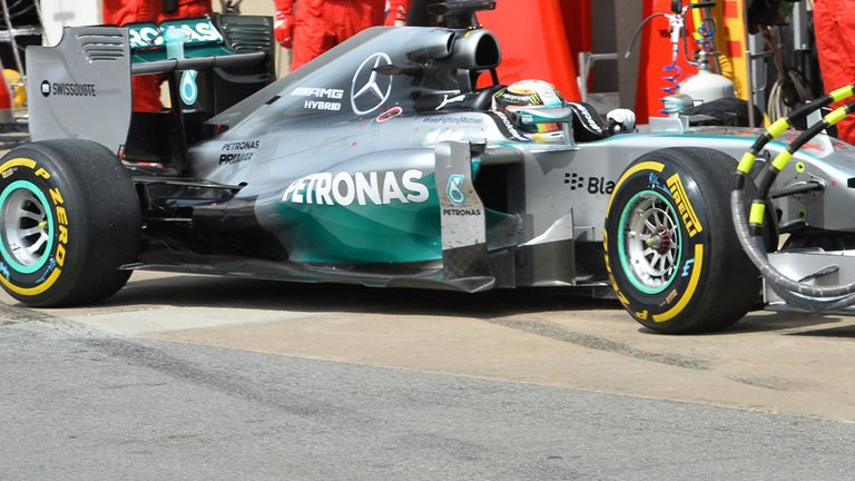 Hamilton retires from the race after what Mercedes said was a 'High-voltage control electronics failure which lead to permanent loss of MGU-K drive'