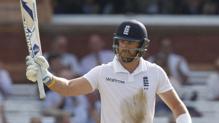 I'm back: Matt Prior counter-attacked superbly after an early scare