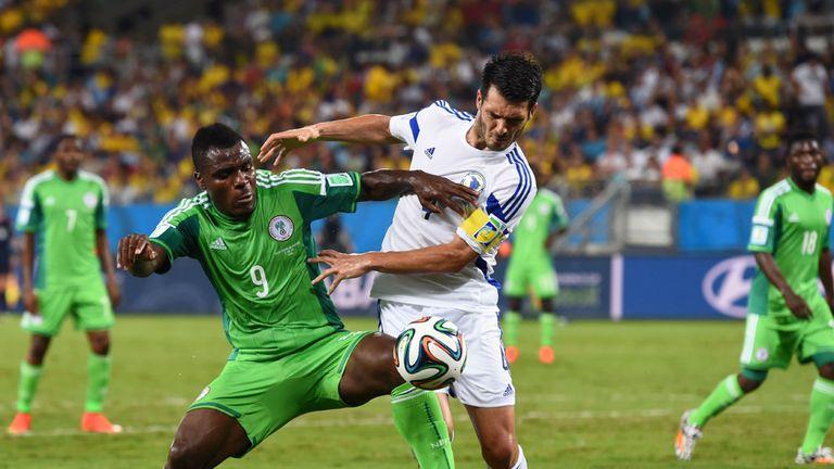 Emmanuel Emenike gave Emir Spahic a torrid time