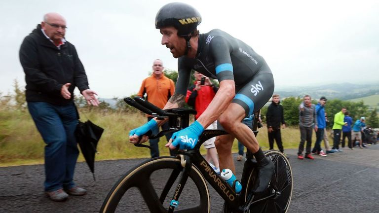 Bradley Wiggins previously won the British time trial title in 2009 and 2010