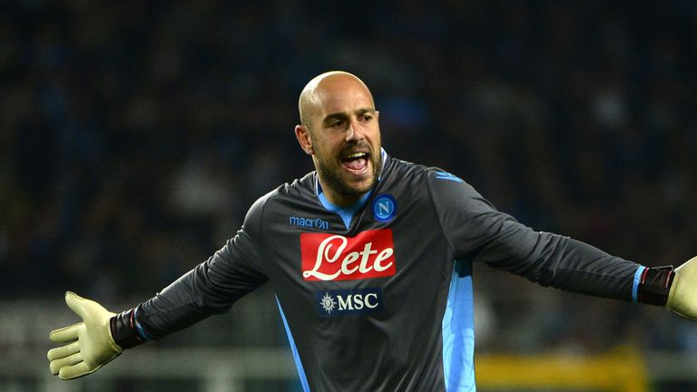 Pepe Reina: Spent the 2013/14 campaign on loan at Napoli
