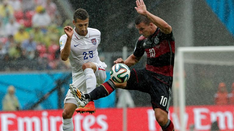 Lukas Podolski: Closed down by Fabian Johnson
