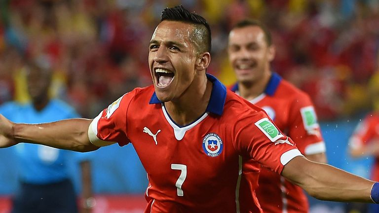 Sanchez has won 71 caps for Chile, scoring 24 goals