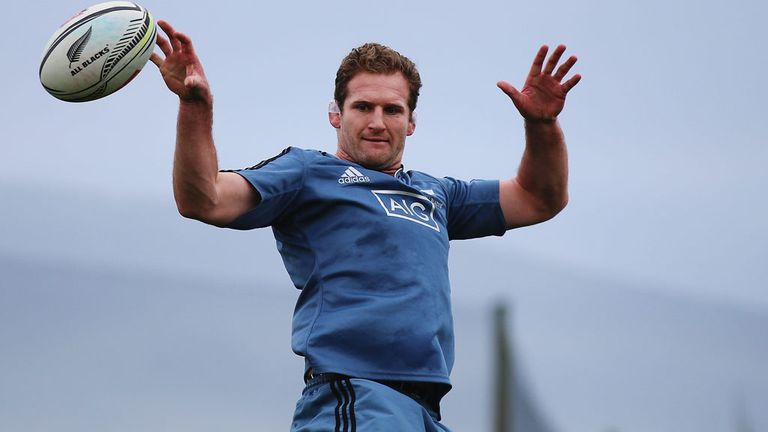 Kieran Read during training in Hamilton this week