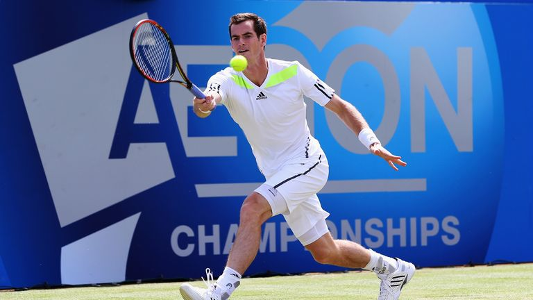 Andy Murray at Aegon Championships, Queen's Club. June 11 2014.