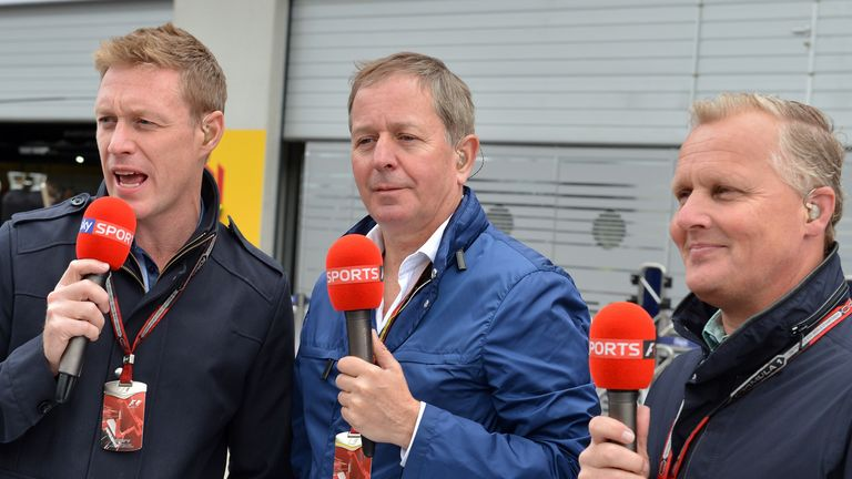Simon Lazenby, Martin Brundle and Johnny Herbert