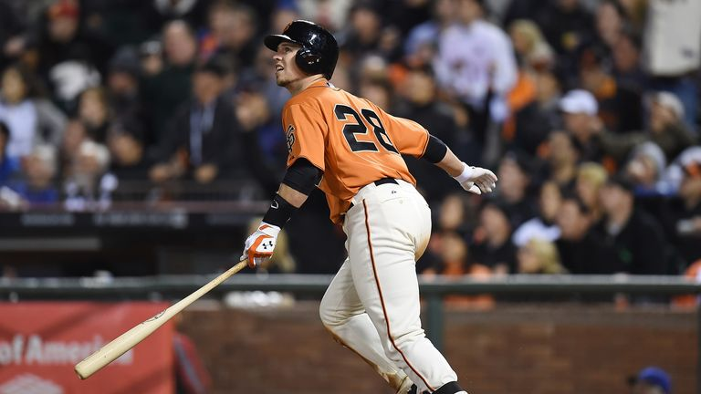 Buster Posey: two-run homer in the eighth earned San Francisco Giants another win