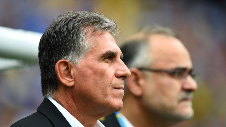 Carlos Queiroz: Watched his side suffer a 3-1 defeat to Bosnia in their final World Cup game