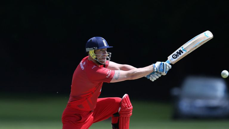 Andrew Flintoff: Former England all-rounder played for Lancashire's second XI on Thursday