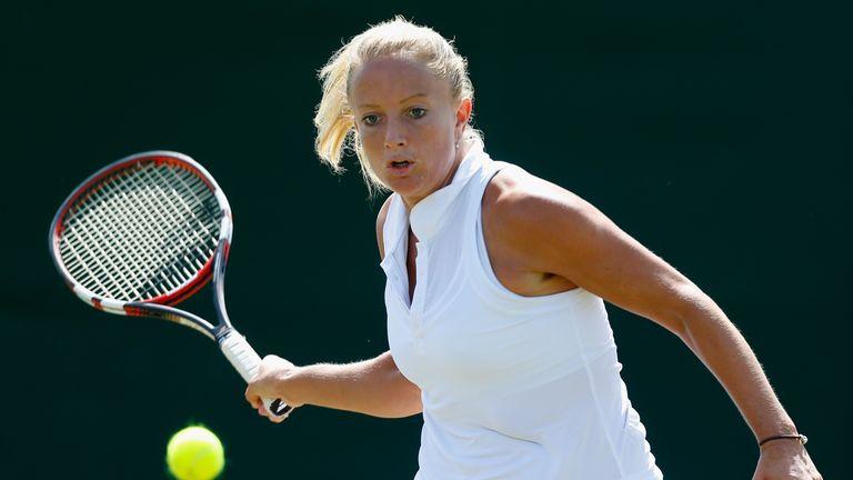 Emily Webley-Smith: Was beaten in three sets by Montenegro's Danka Kovinic