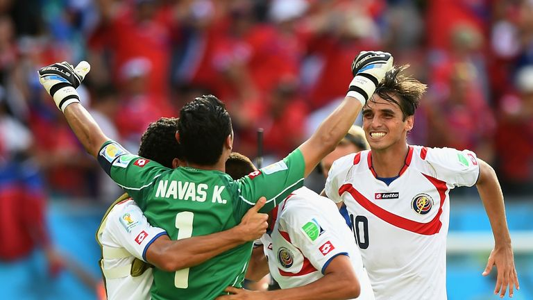 Costa Rica: Celebrations at full-time