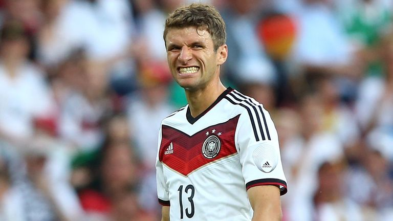 Key to the clash: Germany's Thomas Muller will be targeting his consecutive Golden Boot
