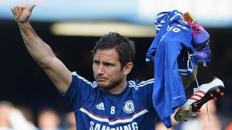 Frank Lampard: Waving goodbye after 13 years with Chelsea