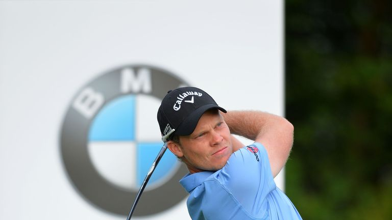 Danny Willett hits his tee shot at the 10th during the second round of the BMW International Open