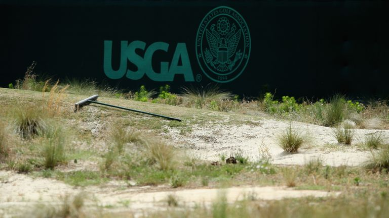 One of the waste areas at Pinehurst
