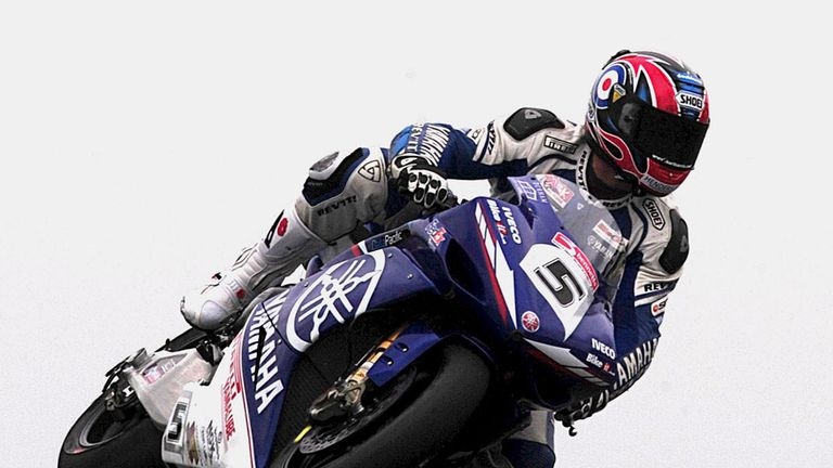 Karl Harris pictured in his British Superbike days